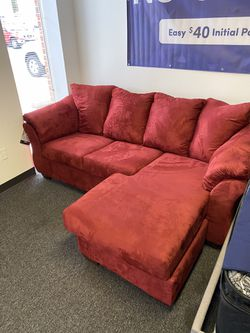 New Red Sofa with Chaise for Sale in Maryland Heights,  MO