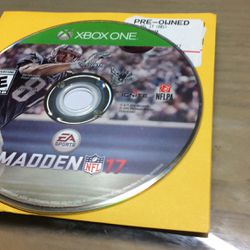 Xbox One Madden NFL 17 for Sale in Hialeah,  FL