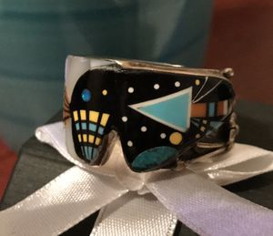 Turquoise Ring Vintage Night Sky Bear Fetish signed BB. Possibly ZUNI for Sale in Oronogo, MO