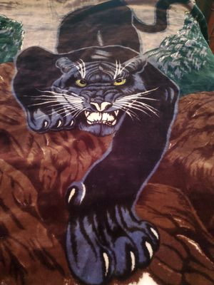 Black Panther Korean Mink Fur Blanket for Sale in Acworth, GA