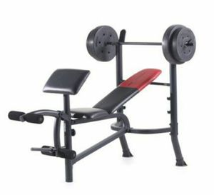 Weight set 80lb weight set with bar for Sale in Rialto, CA