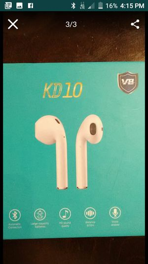 kd10 headphones with wireless charging case for Sale in Phoenix, AZ