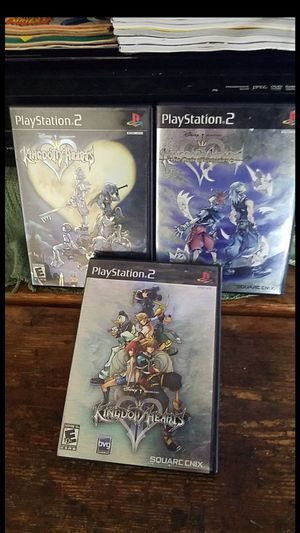 Kingdom hearts series for ps2 black label for Sale in Ontario, CA