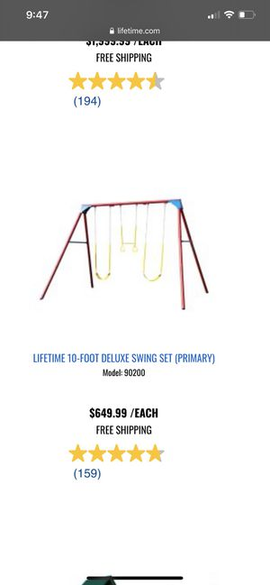 Lifetime Swing Set for Sale in Escondido, CA