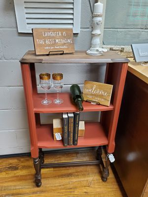 Antique Radio Upcycled Bar And Bookcase for Sale in Butler, PA