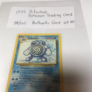 1995 Poliwhirl Pokemon Trading Card 38/102 for Sale in Silver Spring, MD