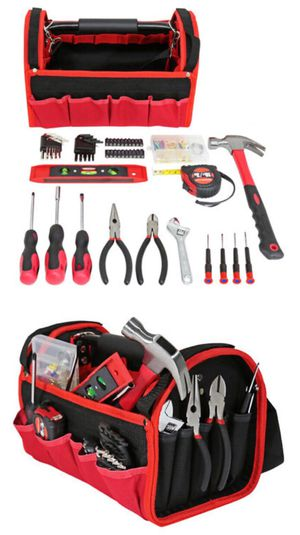New in box 56 pcs olympia tool set screwdrive wrench hammock tool carrying bag case chest handyman for Sale in Los Angeles, CA