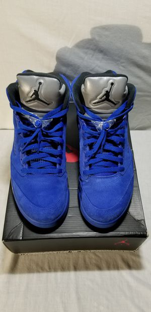 Jordan Retro 5 Blue Suede size 12 $200 for Sale in Bellevue, WA
