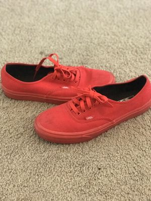 Vans all red size 9 for Sale in Orlando, FL