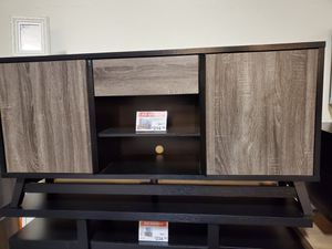 Jason TV Stand up to 70in TVs, Distressed Grey & Black for Sale in Garden Grove, CA