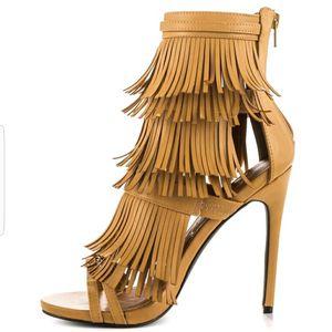 Tan Fringe heel for Sale in Vancouver, WA