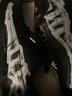 Black Skeleton AirForce 1, Lightly Used, Size 9 for Sale in Costa Mesa,  CA