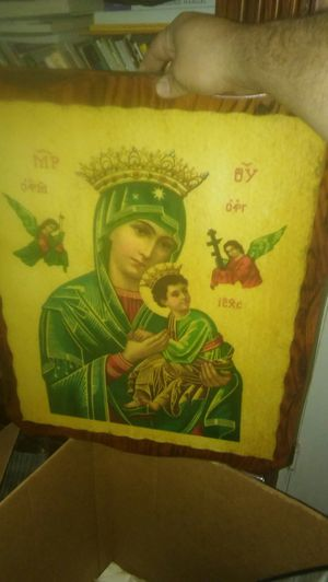 Mother Mary wooden painting for Sale in Las Vegas, NV