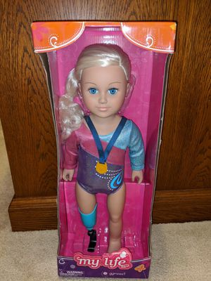 """My Life As Gymnast Doll - Prosthetic Para Olympic Medalist 18"""" Blonde for Sale in Charlotte, NC"""