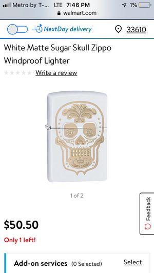 Matte Skull Zippo Lighter for Sale in Plant City, FL