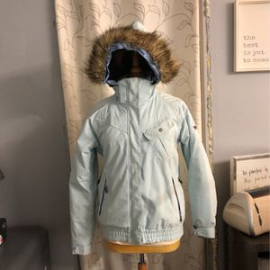 Colombia Light Blue Puffer Jacket Waterproof And Breathable Size Large for Sale in West Covina, CA