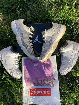 Nike air Jordan's and supreme tee for Sale in Modesto, CA