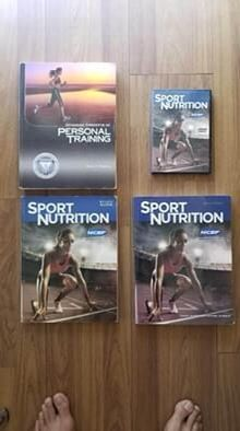NCSF Personal Trainer and Sport Nutrition Certification Text Books Study Guide and DVD for Sale in Los Angeles, CA