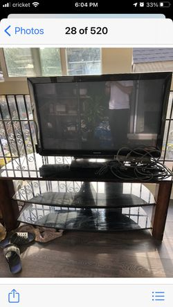 3 Tier Glass Tv Stand And Tv for Sale in San Francisco,  CA