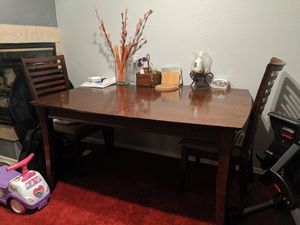 Wooden Dining table with 2 chairs for Sale in Phoenix, AZ