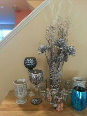 Vases and candle holder hurricane style for Sale in Fairfax, VA