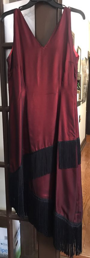 Custom 20s - 30s Vintage inspired dress; Dark red; used once for Sale in Richmond, CA