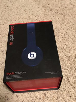 Beats Solo HD - Blue On the ear phones for Sale in Renton, WA