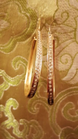 Gold and diamond earrings for Sale in Nashville, TN