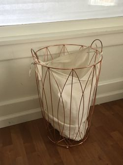 Copper Hamper With Linen Lining for Sale in Escondido,  CA