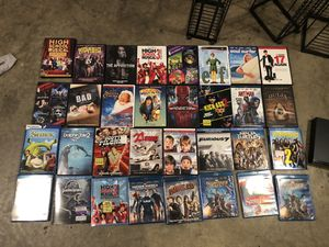 Blu-ray DVD player racks and movies for Sale in Quantico, VA