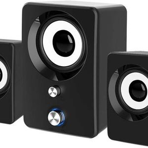 Computer Speakers, 3.5mm Jack PC Speakers Wired with Subwoofer, USB Powered Multimedia 2.1 Channel for Desktop, Windows, Laptop, Tablets, Smartphone, for Sale in Chino Hills, CA