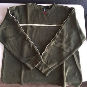Quiksilver Mens Green V-Neck Sweatshirt Adult XL for Sale in Chula Vista, CA