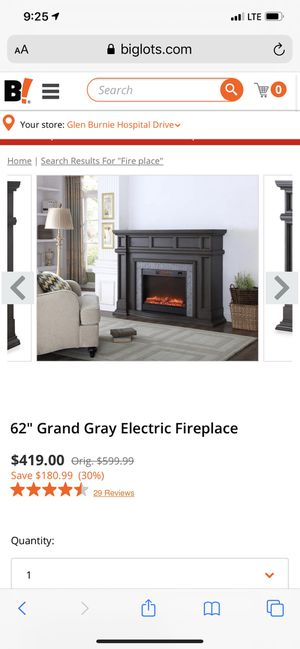 Fire place entertainment stand. New. Never used. for Sale in Severn, MD