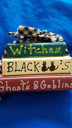 Witches, black cats and ghosts book decoration for Sale in Lake Mills, IA