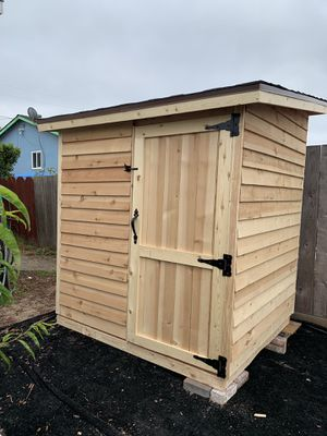 Cedar Wood Storage Shed 6x5x7 for Sale in Ceres, CA