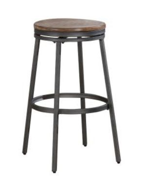 Stockton 30 in. Grey Backless Swivel Bar Stool for Sale in Katy, TX