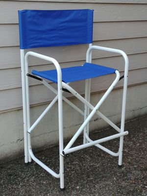 Aluminum Frame Blue Canvas Folding Director's Chair for Sale in Beaverton, OR