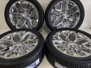 "22"" OEM GMC Chevrolet Silverado Tahoe Denali Yukon Snowflake Wheels 6x139 - WE FINANCE!! 🥳🥳 for Sale in Mesa, AZ"