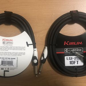 NEW 1cable KIRLIN LGI-202 20AWG 10ft High Quality Pro Guitar Cable, Fender, Bass, Acoustic Amp, Effects for Sale in Chino, CA