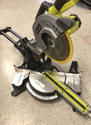Ryobi 15-AMP 10 In Sliding Miter Saw With Laser Power Tool Heavy Duty Contractor + dewalt blade for Sale in Austin, TX