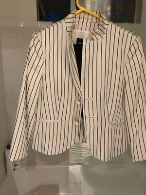 Gorgeous Armani silk jacket black and white strips size 46 for Sale in Calabasas, CA