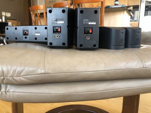 Bose/Sony front and back speakers and Sony center speaker for surround sound for Sale in Chicago, IL