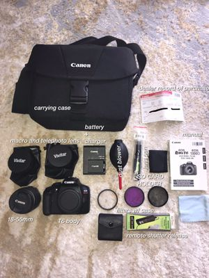 Canon T6 + SAMPLE PICS for Sale in Etna, OH