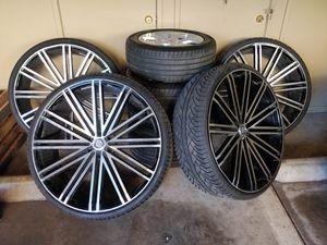 "U2 28"" Rims w/ Dcenti D9000 Tires (FULLSET) for Sale in Richmond, CA"