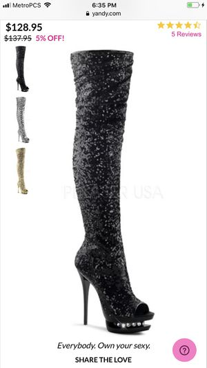 Stripper boots thigh high size 6 for Sale in Hollywood, FL