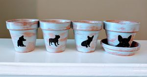 Frenchie Mini Flower Pots for Sale in Nashville, TN