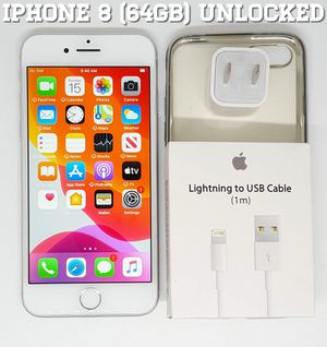 IPhone 8 Regular (64GB) Factory-UNLOCKED + Accessories for Sale in Arlington, VA