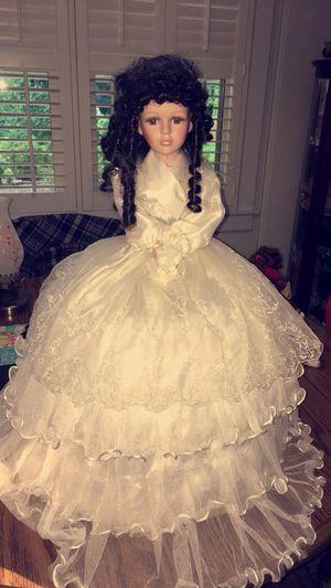 Antique porcelain umbrella doll for Sale in Woodruff, SC