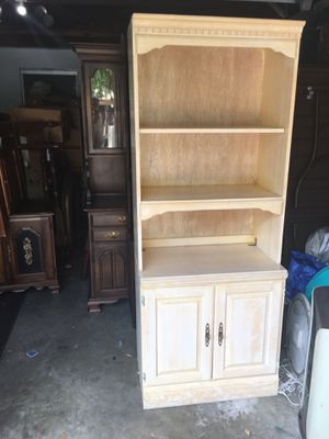 Storage Cabinet-shelving unit,off white. for Sale in Lakeland, FL