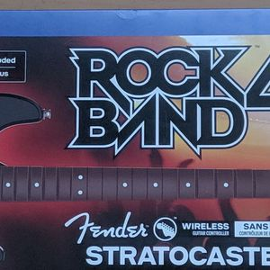 Rock Band Fender Stratocaster Guitar For PS4 with Game - for Sale in San Leandro, CA